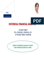 Historical Financial Analysis- CA Rajiv Singh