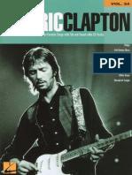 Eric Clapton Guitar PLay Along Vol 24