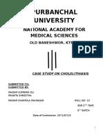 A CASE STUDY ON CHOLELITHIASIS