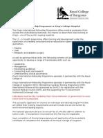 Fellowship Questionnaire