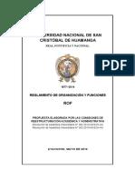 Reglamento de Organización y Funciones 2009