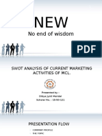 SWOT Analysis of Marketing Activities of MCL