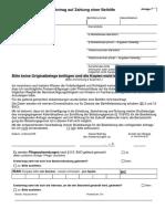 III-VO ist grundsätzlich Schriftform, Datierung und Unterzeichnung.