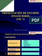 1ra Clase Presentacion de Estados Financieros