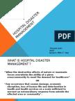 Hospital Disaster Management