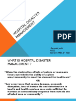 Hospital Disaster Management