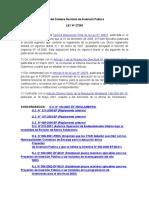 Ley Del Sistema Nacional de Inversión Pública