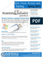 Spring 2015 Microsoft Office 2010 Flyer