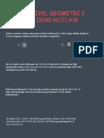 Diferansiyel Geometri I (Alternatif) Ders Notu - (2014-2015 Güz Dönemi)