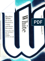 El Texto Historico Como Artefacto Literario - Hayden White