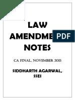 Amandment Notes for CA Final Law