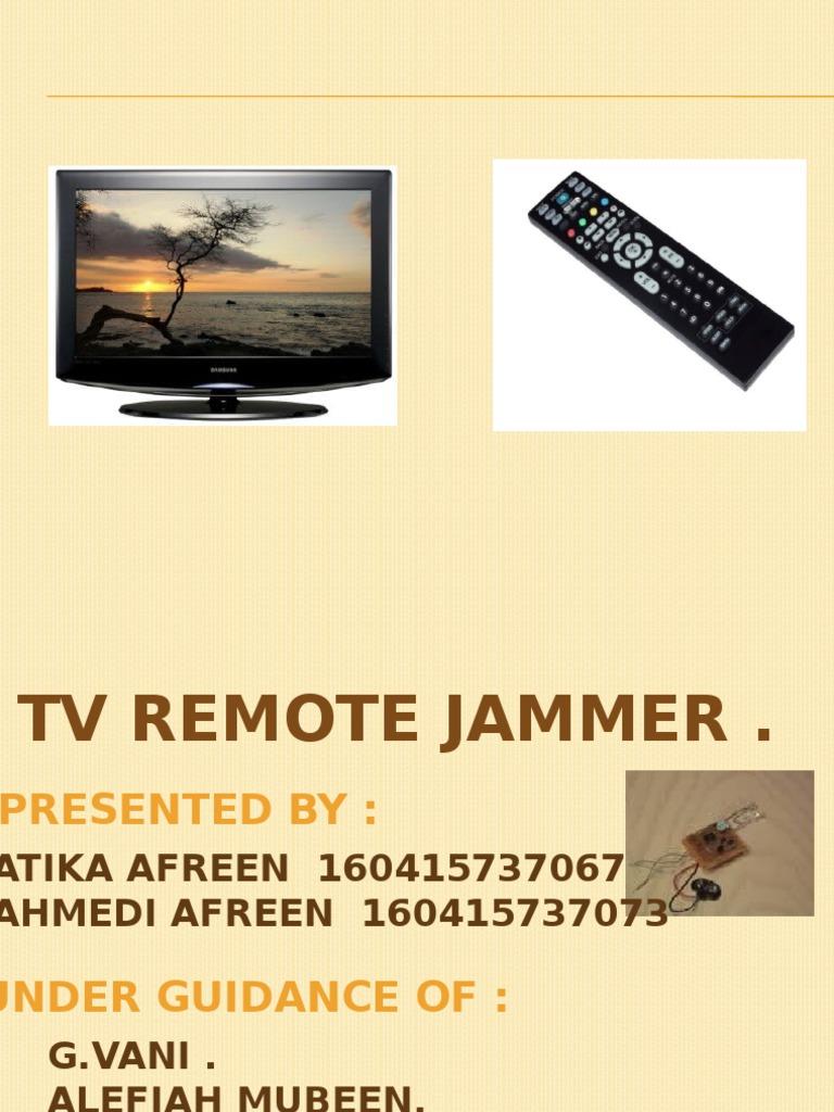 Najmunissa Noorin Capacitor Remote Control Jammer Circuit Diagram