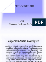 Audit Investigatif Pak Oleh Inspektur I