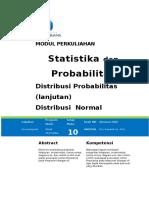 Mdl10 Distr Probabilitas Normal