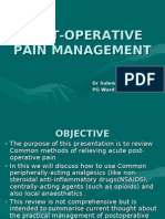 Pain Management in Surgical Patients