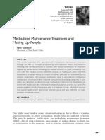 VALENTINE 2007 Methadone Maintenance Treatment