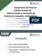 Redimensionamento de frota de caminhões através de determinação e resolução de sistema de equações matemáticas