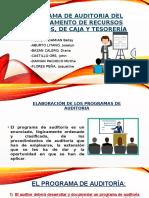 Programa de auditoria del departamenteo de RRHH y TESORERIA