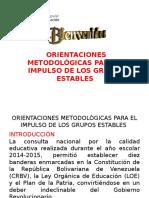 Orientaciones Metodológicas Para El Impulso de Los Grupos Estables