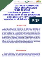 Orientaciones Para El Proceso de Transformacion Curricular Tecnicas