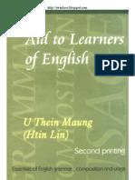 U Thein Mg - Aids To Learners of English
