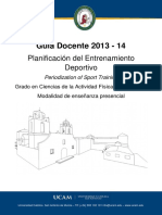 Planificacion Del Entrenamiento Deportivo