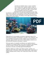 La vasta flora marina presente en los distintos mares y océanos constituye todo un mundo de colores y texturas.docx