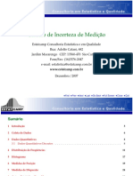 Calculo Incerteza Medicao