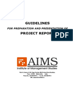 AIMS - Internship Project - Presentation & Preparation - Guidelines