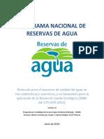 Protocolo Calidad de Agua