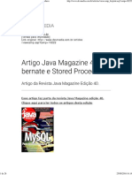 Artigo Java Magazine 40 - Hibernate e Stored Procedures