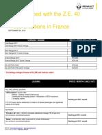 Renault Zoe EV leasing price guide