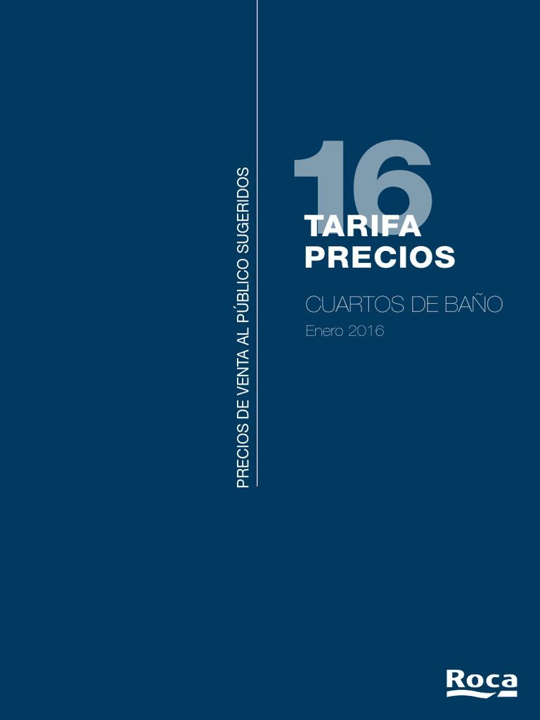 Tarifa De Precios Platos De Ducha Roca.Tarifa Roca 2016
