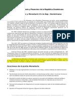 Sistema Monetario Financiero Republica Dominicana