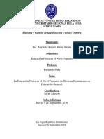 La Educación Física en El Nivel Primario, Del Sistema Dominicano en Educación General.