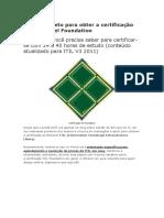 Guia Completo Para Obter a Certificação ITIL No Nível Foundation