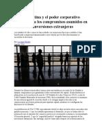 América Latina y El Poder Corporativo Una Crítica a Los Compromisos Asumidos en Materia de Inversiones Extranjeras