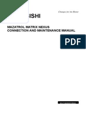 Mazatrol Matrix Nexus Connection And Maintenance Manual