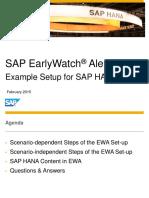 Sap Earlywatch Alert for Sap Hana