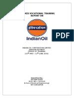 IOCL Barauni Vocational Training Report
