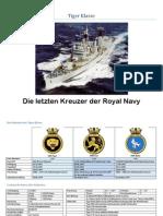 Tiger Klasse Kreuzer Royal Navy Lenkwaffen