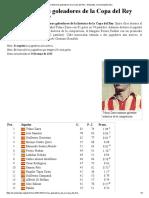 Anexo_Máximos Goleadores de La Copa Del Rey - Wikipedia, La Enciclopedia Libre