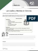 Ficha 2, Cantidades y Medidas en Ciencias