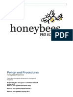 Honeybees Policies & Procedures Jan 2016 Updated May 2016