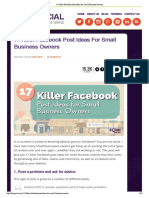 17 Killer Facebook Post ...r Small Business Owners