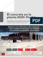 El concreto en la planta AUDI-Puebla
