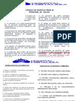 DERECHO de ENFERMERIA ,Medicos y Codigo de Bioetica