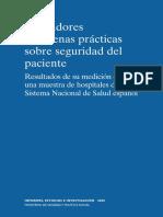 Indicadores Buenas Practicas SP Resultados Medicion Hospitales SNS