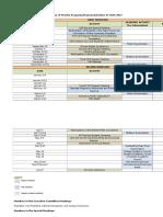 Sample Organization Schedule of Activities