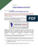 Pendaftaran Online Bidikmisi 2016